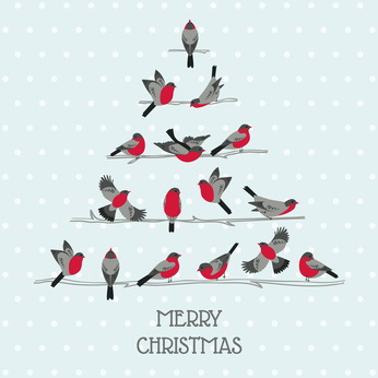 Birds on Christmas Tree